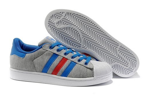 Adidas Superstar Ii Womens & Mens (unisex) Grey Blue Red China